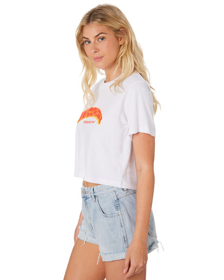 WHITE WOMENS CLOTHING WRANGLER TEES - W-951386-060WHT