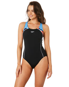 BLACK BLUEBELL WOMENS SWIMWEAR SPEEDO ONE PIECES - 2255A-7878BKBLU
