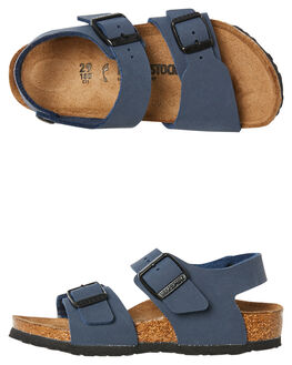 NAVY KIDS BOYS BIRKENSTOCK THONGS - 087773NAVY