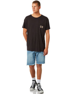 WASHED BLACK MENS CLOTHING CATCH SURF TEES - A7TEE015WBL