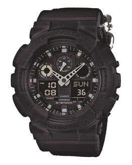 BLACK MENS ACCESSORIES G SHOCK WATCHES - GA100BBN-1ABLK