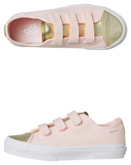 HEAVENLY PINK KIDS GIRLS VANS SNEAKERS - VNA3JFNUK4HPINK