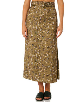 KHAKI FLORAL WOMENS CLOTHING THE FIFTH LABEL SKIRTS - 40190653-2FLORA