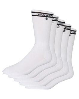 WHITE MENS CLOTHING PASS PORT SOCKS + UNDERWEAR - PP-HISXWHT
