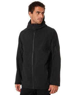 BLACK MENS CLOTHING MR SIMPLE JACKETS - M-09-42-01BLK