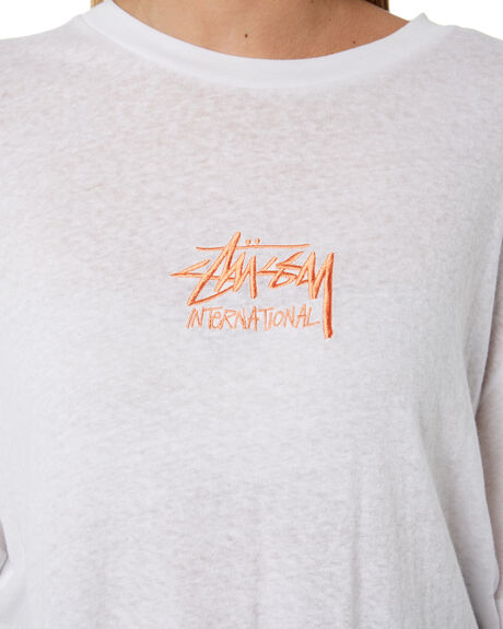 WHITE WOMENS CLOTHING STUSSY TEES - ST193007WHT