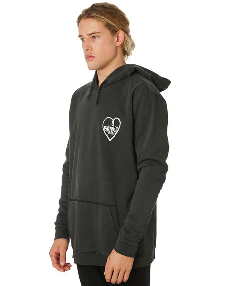 DIRTY BLACK MENS CLOTHING BANKS JUMPERS - WFL0188DBL
