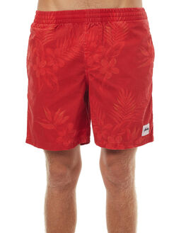 RED MENS CLOTHING STUSSY BOARDSHORTS - ST072602RED