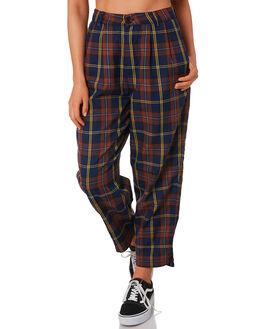 RUST NAVY WOMENS CLOTHING STUSSY PANTS - ST191617RUST