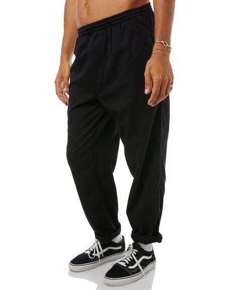 BLACK MENS CLOTHING POLAR SKATE CO. PANTS - PSCSURFBLK