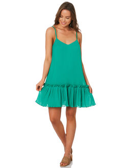 GREEN WOMENS CLOTHING TIGERLILY DRESSES - T392414GRN