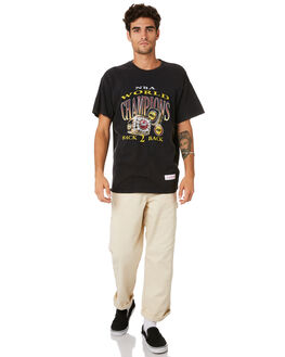 ROCKETS BLACK MENS CLOTHING MITCHELL AND NESS TEES - 4173VINTAGEPCHAMPBLK