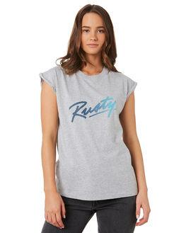 GREY MARLE WOMENS CLOTHING RUSTY TEES - TTL1010GMA