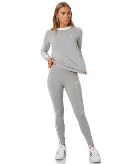 MEDIUM GREY HEATHER WOMENS CLOTHING ADIDAS ACTIVEWEAR - DV2591GRY