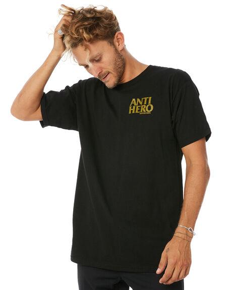 BLACK MENS CLOTHING ANTI HERO TEES - LILBKHROBLK