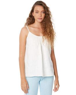 WHITE LINEN WOMENS CLOTHING WILDE WILLOW FASHION TOPS - K350WHT