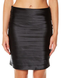 BLACK WOMENS CLOTHING FATE SKIRTS - 4476SWFABLK
