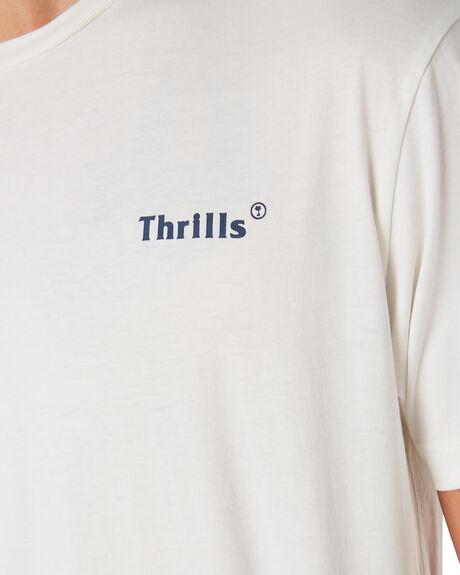 WHITE MENS CLOTHING THRILLS TEES - TH9-117AWHT