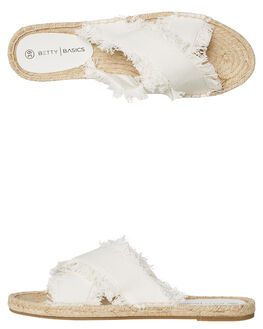 OFF WHITE WOMENS FOOTWEAR BETTY BASICS FLATS - BB922OWHT