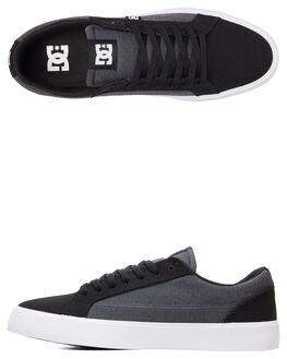 BLACK/GREY/BLACK MENS FOOTWEAR DC SHOES SNEAKERS - ADYS300490-XKSK