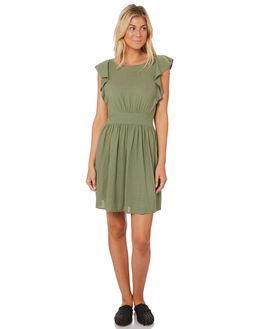 TURTLE WOMENS CLOTHING SASS DRESSES - 12958DWSSGREEN