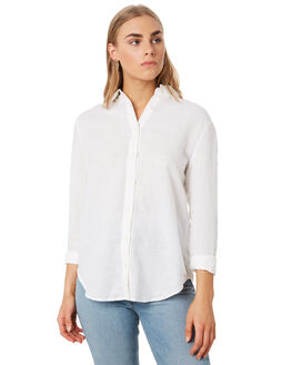 WHITE WOMENS CLOTHING NUDE LUCY FASHION TOPS - NU23712WHI