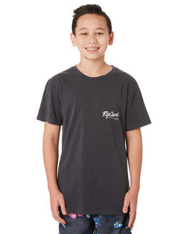 WASHED BLACK KIDS BOYS RIP CURL TOPS - KTEWA28264