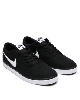 BLACK WHITE MENS FOOTWEAR NIKE SKATE SHOES - SS843896-001M