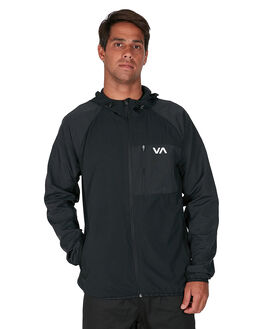 BLACK MENS CLOTHING RVCA JACKETS - RV-R307437-BLK