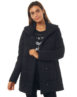 BLACK WOMENS CLOTHING HURLEY JACKETS - AGJTFLAU800A