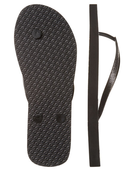 BLACK WOMENS FOOTWEAR RIP CURL THONGS - TGTD400090