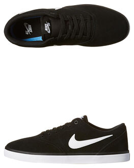 BLACK WHITE MENS FOOTWEAR NIKE SKATE SHOES - 843895-001