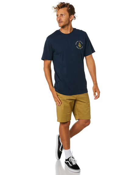 NAVY MENS CLOTHING VOLCOM TEES - A504188GNVY