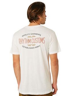 WHITE MENS CLOTHING RHYTHM TEES - JUL18M-PT04-WHT