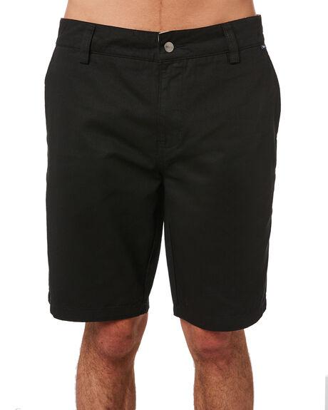 BLACK MENS CLOTHING AFENDS SHORTS - M183305BLK