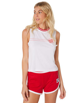 WHITE WOMENS CLOTHING SANTA CRUZ SINGLETS - SC-WTC7370WHI