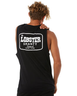 BLACK MENS CLOTHING THE LOBSTER SHANTY SINGLETS - COOPBLK