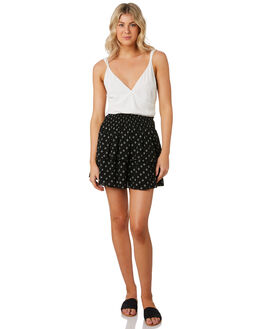 BLACK WHITE WOMENS CLOTHING MINKPINK SKIRTS - MP1906530BKWT