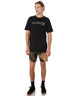 BLACK WHITE MENS CLOTHING HURLEY TEES - 892205013