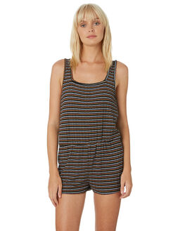 BLACK COMBO WOMENS CLOTHING VOLCOM PLAYSUITS + OVERALLS - B2831901BLC