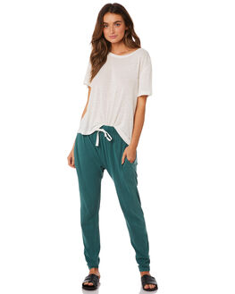 LIGHT GREEN WOMENS CLOTHING SILENT THEORY PANTS - 6090036-LGRN
