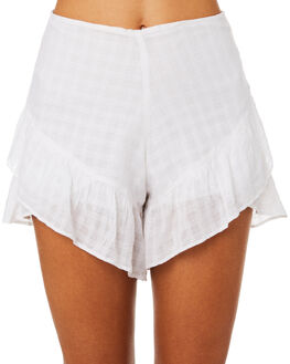 WHITE WOMENS CLOTHING ALL ABOUT EVE SHORTS - 6403036WHT