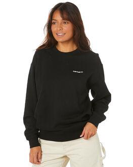 BLACK WOMENS CLOTHING CARHARTT JUMPERS - I027477BLK