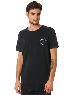 WASHED BLACK MENS CLOTHING SILENT THEORY TEES - 4043055WBLK