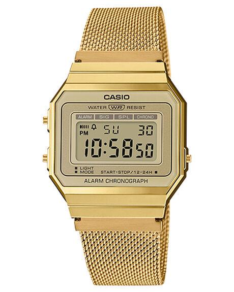 GOLD MESH MENS ACCESSORIES CASIO WATCHES - A700WMG-9AGLD