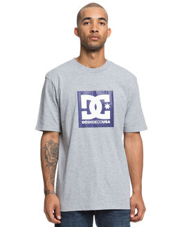 GREY HEATHER MENS CLOTHING DC SHOES TEES - UDYZT03557KNFH