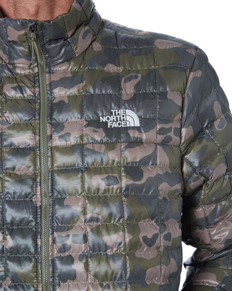 OLIVE GREEN PRINT MENS CLOTHING THE NORTH FACE JACKETS - NF0A3Y3NLQ7