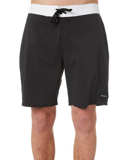 BLACK WHITE MENS CLOTHING RVCA BOARDSHORTS - R172408BKWH