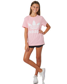 LIGHT PINK KIDS GIRLS ADIDAS TOPS - DV2909LPINK