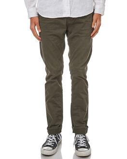 DARK DESERT GREEN MENS CLOTHING NUDIE JEANS CO PANTS - 120115GRN